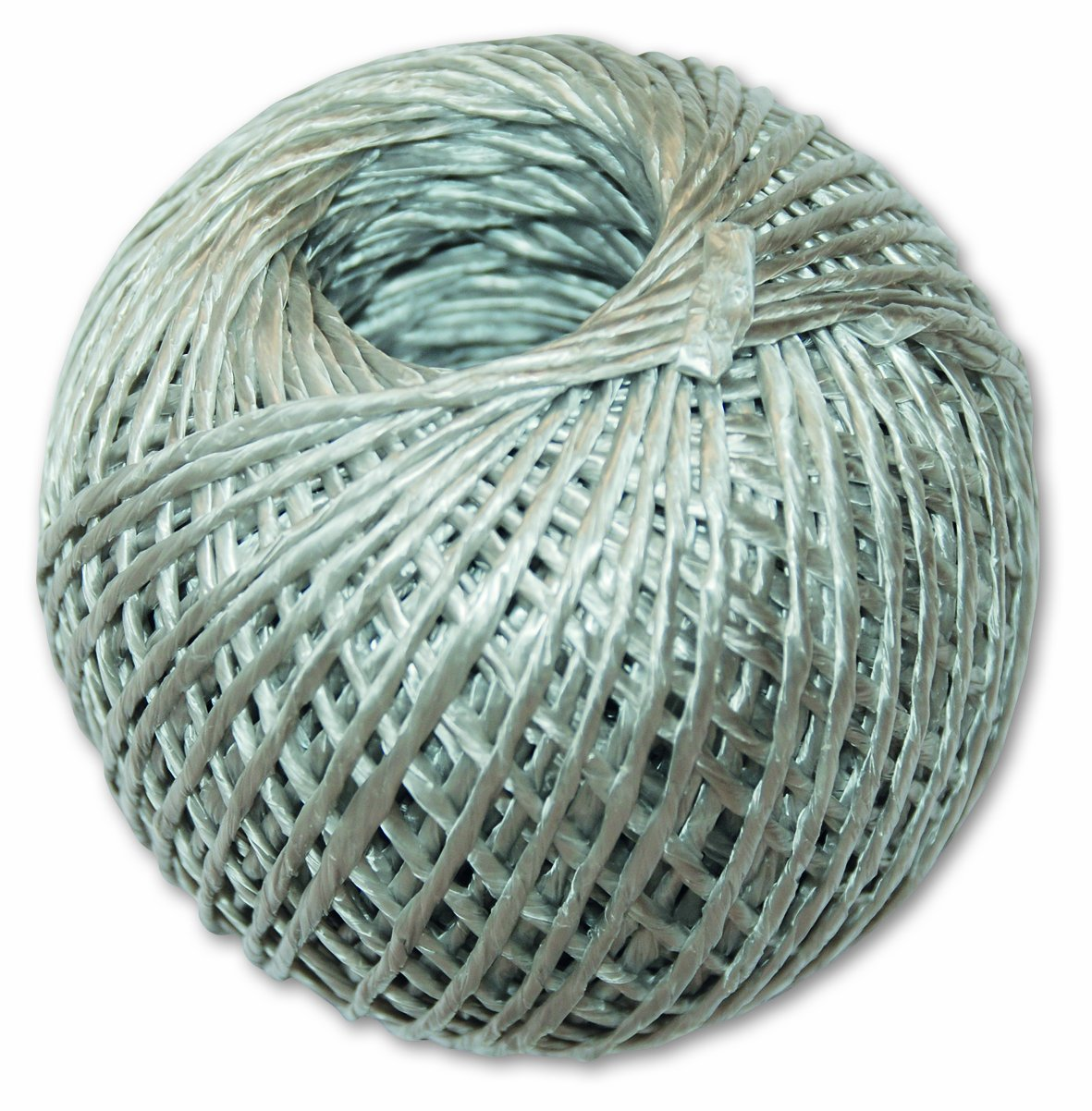 Chapuis FNOELA Christmas Polypropylene Twine - 1 Strand Silver, 66 m Long
