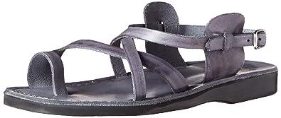 ba8f6f29783c8 Jerusalem Sandals Men s The Good Shepard Buckled Toe-Ring Sandal