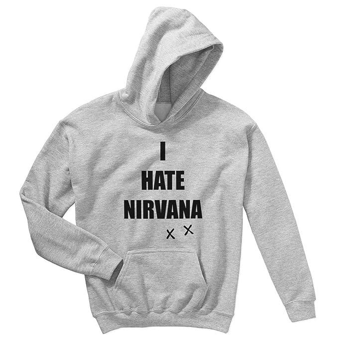 I GrungeScritta Hate DivertenteIronica Rock NirvanaStile Felpa wknPO08