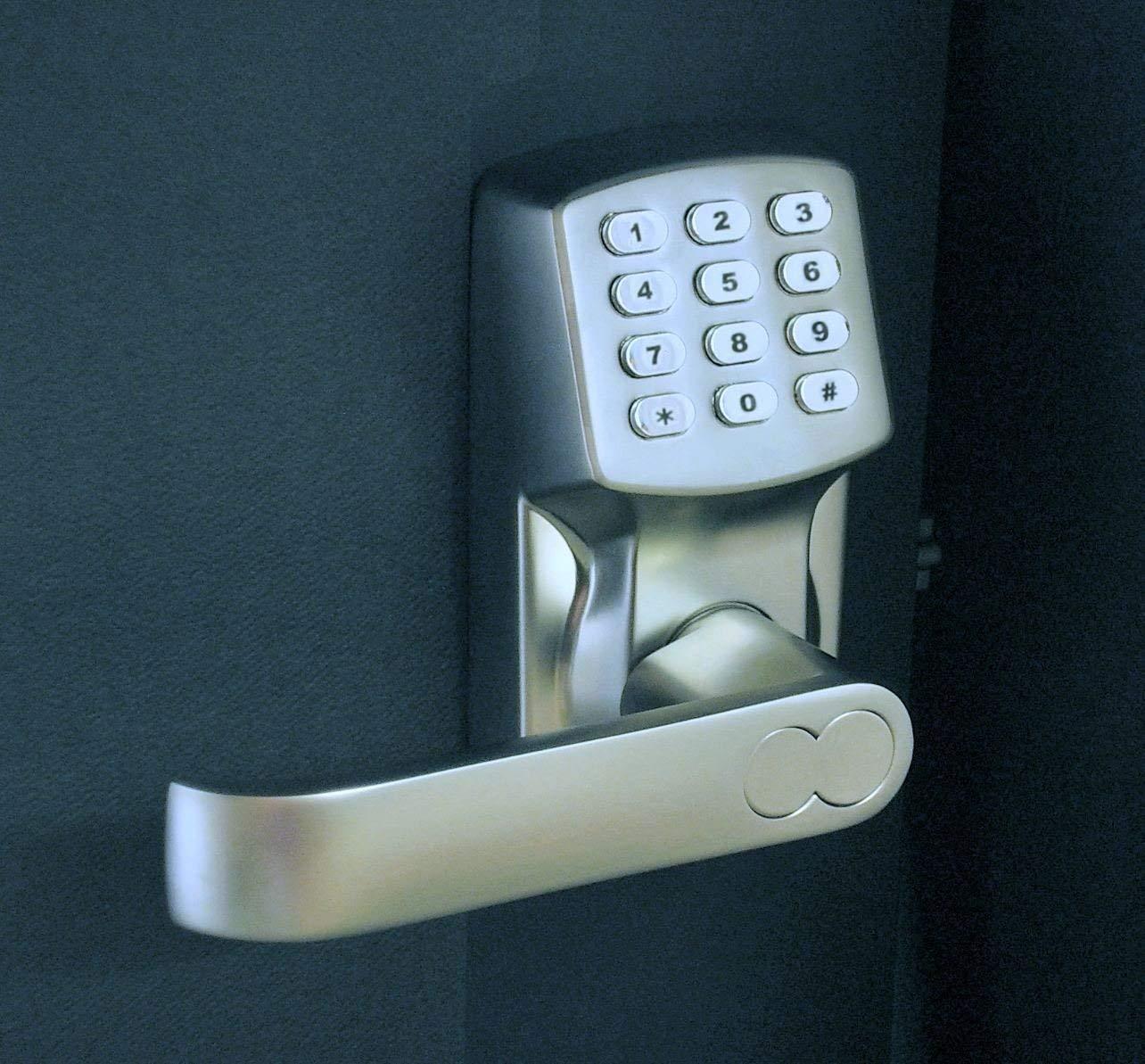 Electronic Keyless Door Lock Set - Satin Nickel (For Left-Hinged Doors Only) by Gino Development (Image #2)