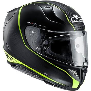 HJC - Casco de moto, modelo 122704XXL, negro y verde, talla XXL