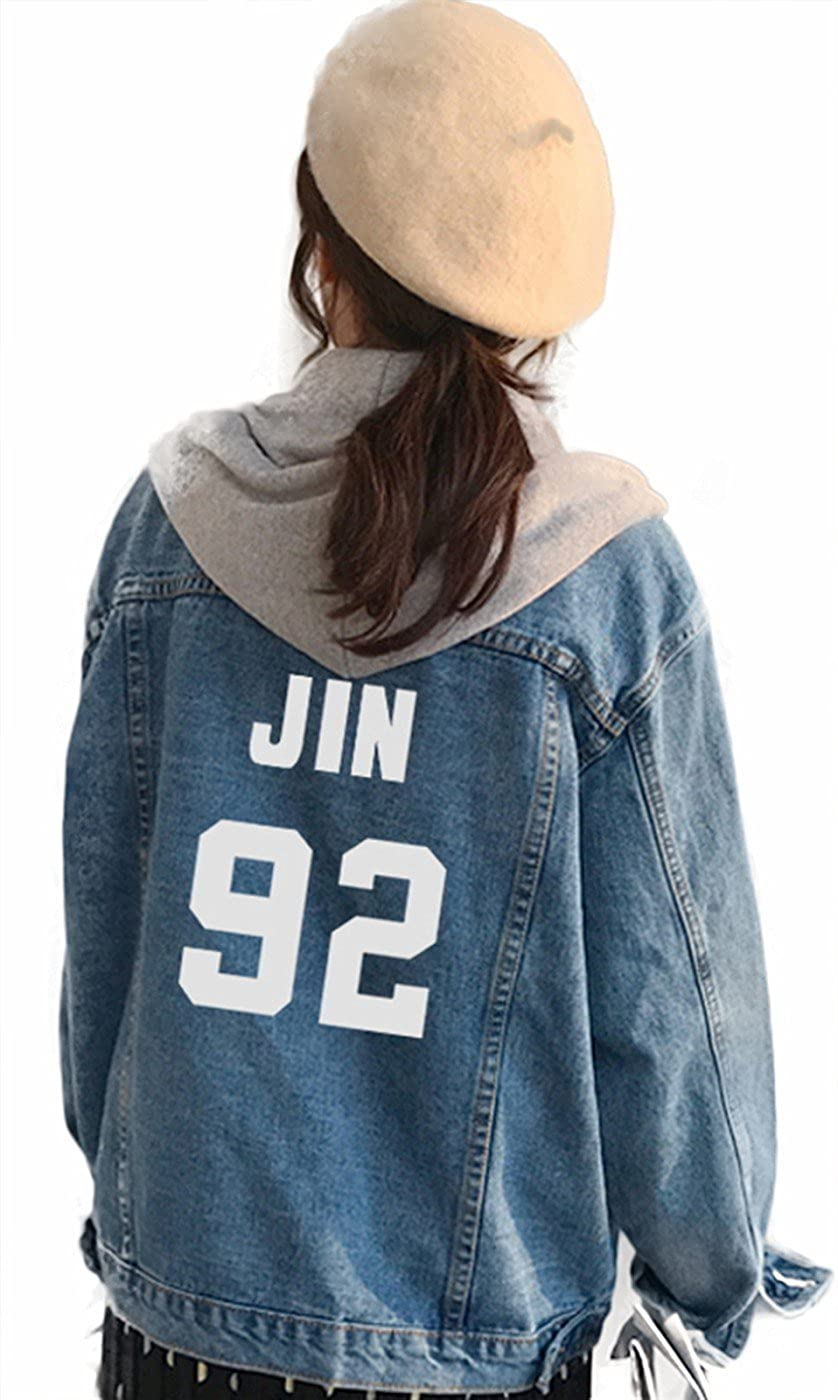 Amazon.com: SERAPHY Unisex BTS Hoodies Jacket Jeans Coat for ...