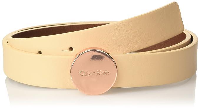 Womens Logo Plaque Belt, Brown (Vacchetta), 75 Calvin Klein