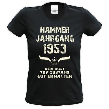 Soreso Design Geburtstagsgeschenk für Frauen : Hammer Jahrgang 1953 ::  Geschenk Zum 65.Geburtstag Farbe: Schwarz: Amazon.de: Bekleidung