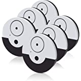 CATSONIC Premium Window Alarm Device Set - Extra Loud 130dB Alarm & Vibration Sensors - Universal Compatibility & Easy Installation - Great For Home, Office & RV Security (6 set Black)