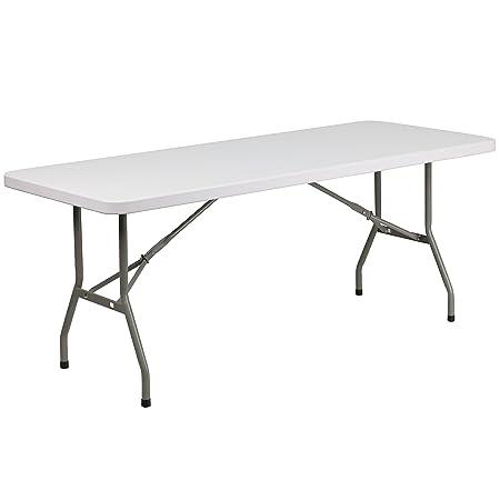 Flash Furniture Plastic Folding Table 30 W x 72 L Granite