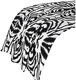 Dreamscene Couverture couvre-lit imprimé zèbre, imprimé animal Couvre-lit, noir/blanc