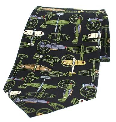 Soprano Aviones de guerra negro sobre fondo negro - Corbata de ...