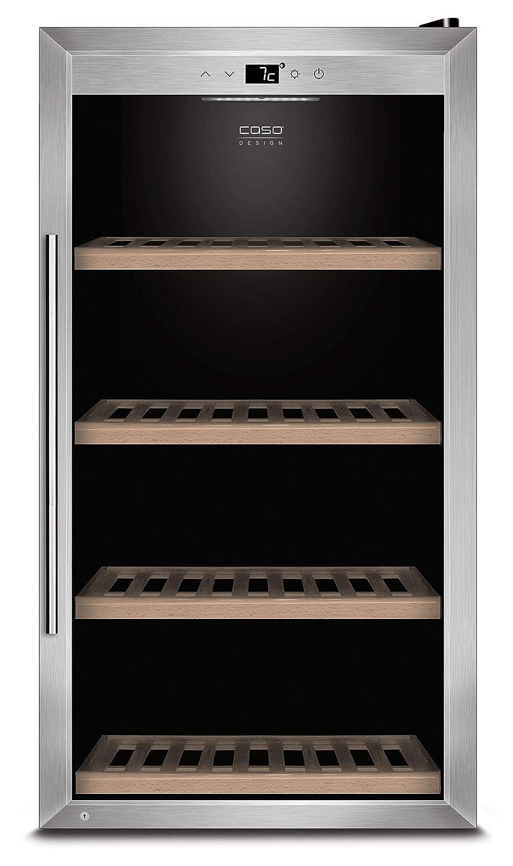 eine Temperaturzone 5-20/°C f/ür Rotwein oder Wei/ßwein Getr/änkek/ühlschrank bis zu 310 mm H/öhe Energieklasse A CASO WineSafe 75 Design Weink/ühlschrank f/ür bis zu 75 Flaschen
