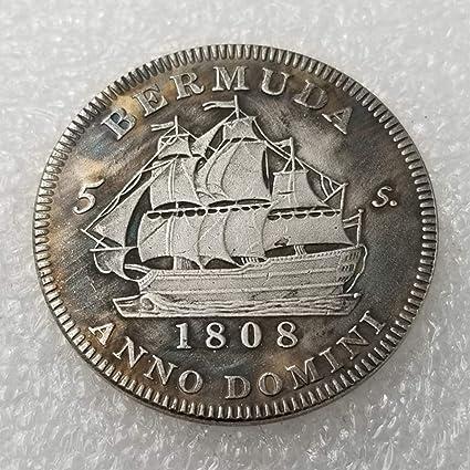YunBest Moneda antigua británica de 1808, con Jorge III de Escocia, chelín - Monedas conmemorativas sin circular, descubre la historia de las monedas BestShop: Amazon.es: Hogar