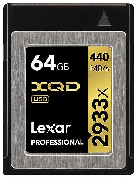 Tarjeta Lexar Professional 64GB 2933x XQD 2.0 - LXQD64GCRBEU2933