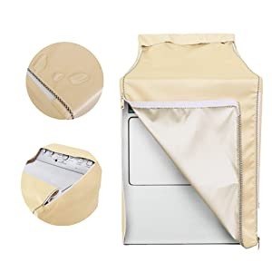 Washing machine cover,Washer/Dryer Cover Made of gold Coated Polyester Fabrics Waterproof splash and anti sunlight irradiation,washer and dryer covers washing machine dryer