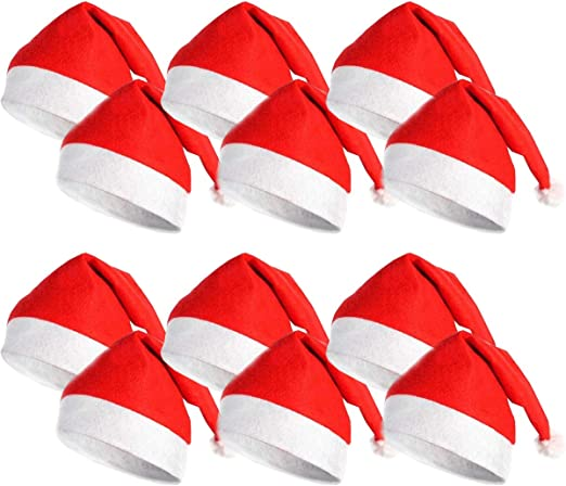 DS Toys Pack 12 Gorro de Navidad Gorro Papa Noel Navidad Disfraz ...