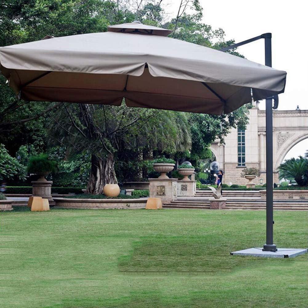Damai Sombrilla De Aluminio De 210Cm con Manivela Parasol Excentrico Cuadrado Protector Solar UV50+ para Jardín Terraza Patio Balcón: Amazon.es: Hogar