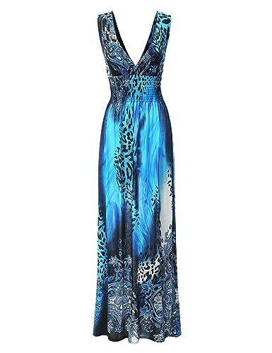 Bohemian Queen Empire Waist Printed Boho Maxi Dress With Plus Size (S-3XL)