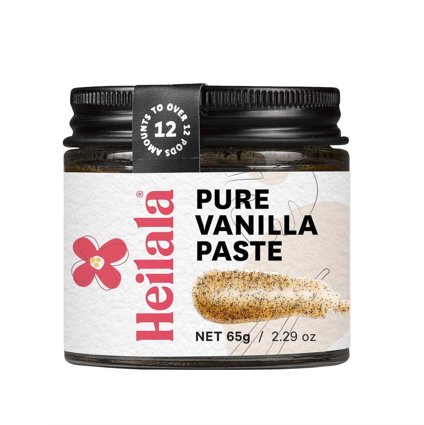 Vanilla Bean Paste for Baking - Heilala Vanilla, the Choice of World's Best Chefs & Bakers, Using Sustainable, Ethically Sourced Vanilla, Hand-Selected from Polynesia, 2.29 oz