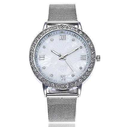 Relojes dellin V1322 Mujer hacha äufige Acero rayas de mármol banda de reloj de cuarzo Acero