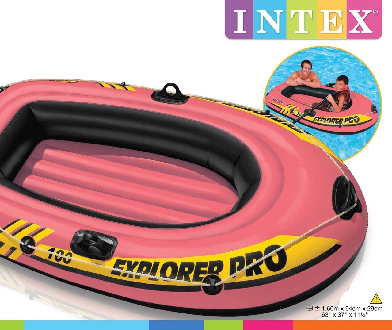 INTEX-58355NP Barca Explorer 100: Amazon.es: Juguetes y juegos
