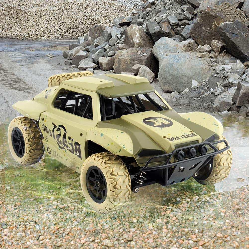 Gizmovine Remote Control Cars 4WD Large Size High Speed 15.5 MPH+ Racing Rc Cars Off Road for Kids and Adults , 2019 Version (Khaki) by Gizmovine (Image #5)