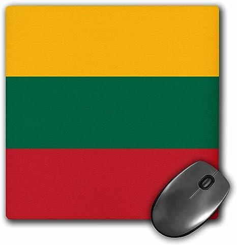 Ressortissant Lituanien Lituanie Drapeau Ruban Baltique pays jaune vert rouge