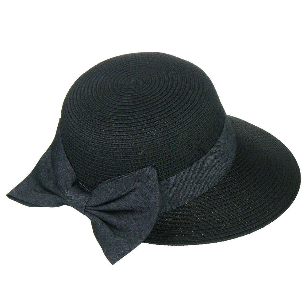Something Special Vintage Look Adjustable Oval Brim Sun Hat with Ribbon