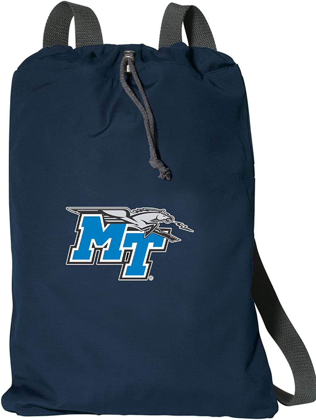Broad Bay Middle Tennessee Drawstring Backpack Rich Cotton MT Cinch Bag