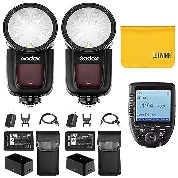 Amazon.com : Godox V1-O TTL On-Camera Round Head 2X Camera ...