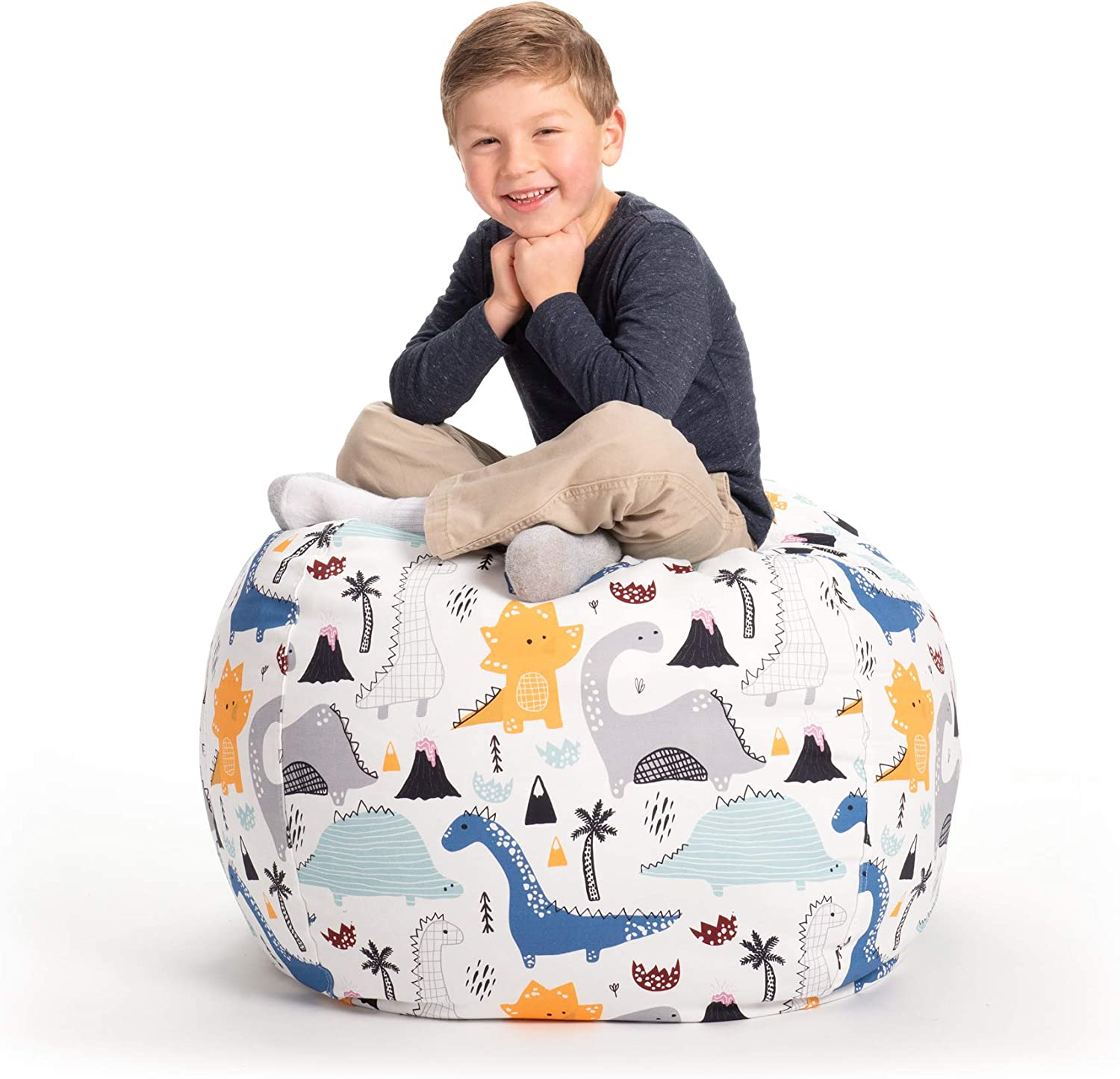 "B07F8FKNCK Creative QT Stuffed Animal Storage Bean Bag Chair - Large Stuff 'n Sit Organization for Kids Toy Storage - Available in a Variety of Sizes and Colors (33"", Dinosaur) 71zAX1qJBGL"