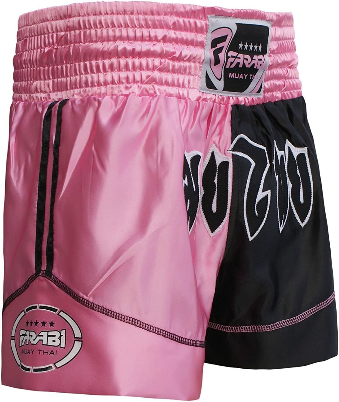 Muay Thai Boxing Kick Boxing Martial Arts Shorts Pink Black Shorts