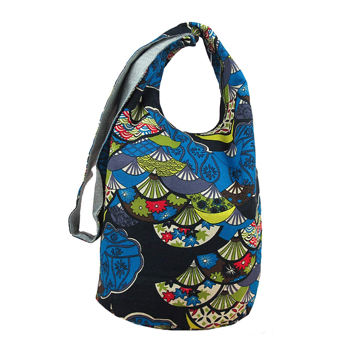 Goodbag Boutique Large Hobo Sling Crossbody Bag Hippie Shoulder Bag Purse Bohemian Messenger Bag