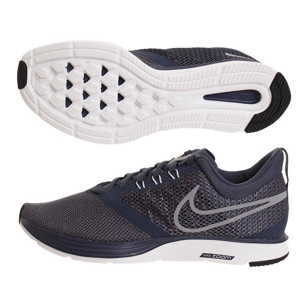 NIKE Women's Zoom Strike Running Shoe B0716SFFG5 12 D(M) US|Thunder Blue/Stealth