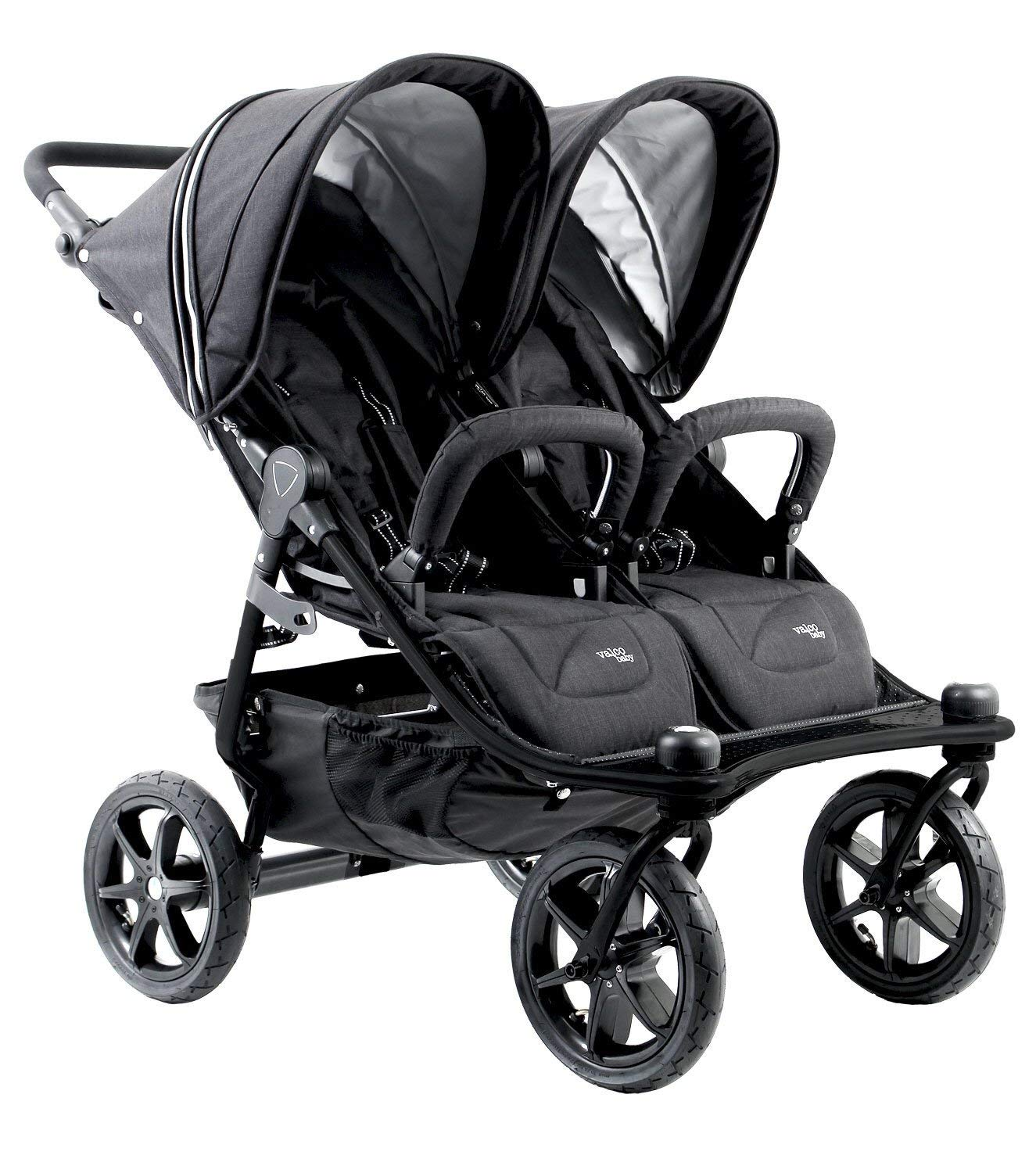 Valco Baby Tri Mode Duo X All Terrain Double Stroller (Black Lightening) by valco baby (Image #2)