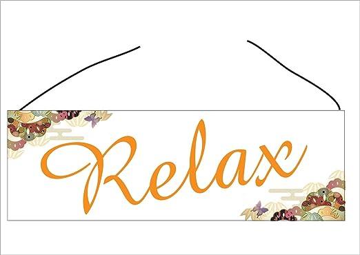 Creativ Deluxe Cartel para puerta de pared Cartel de relax ...