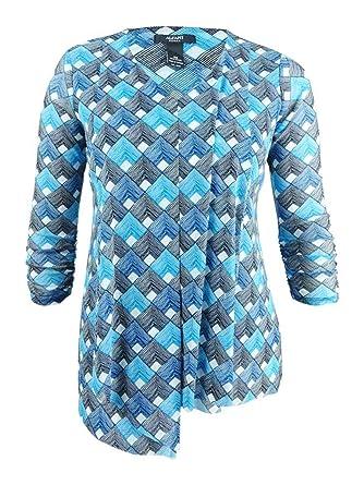 b1678138385 Alfani Womens Plus Geometric Asymmetrical Pullover Top at Amazon Women s  Clothing store