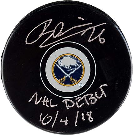 ac33e59feea3a Rasmus Dahlin Buffalo Sabres Autographed Hockey Puck with NHL Debut 10/4/18  Inscription - Fanatics Authentic Certified