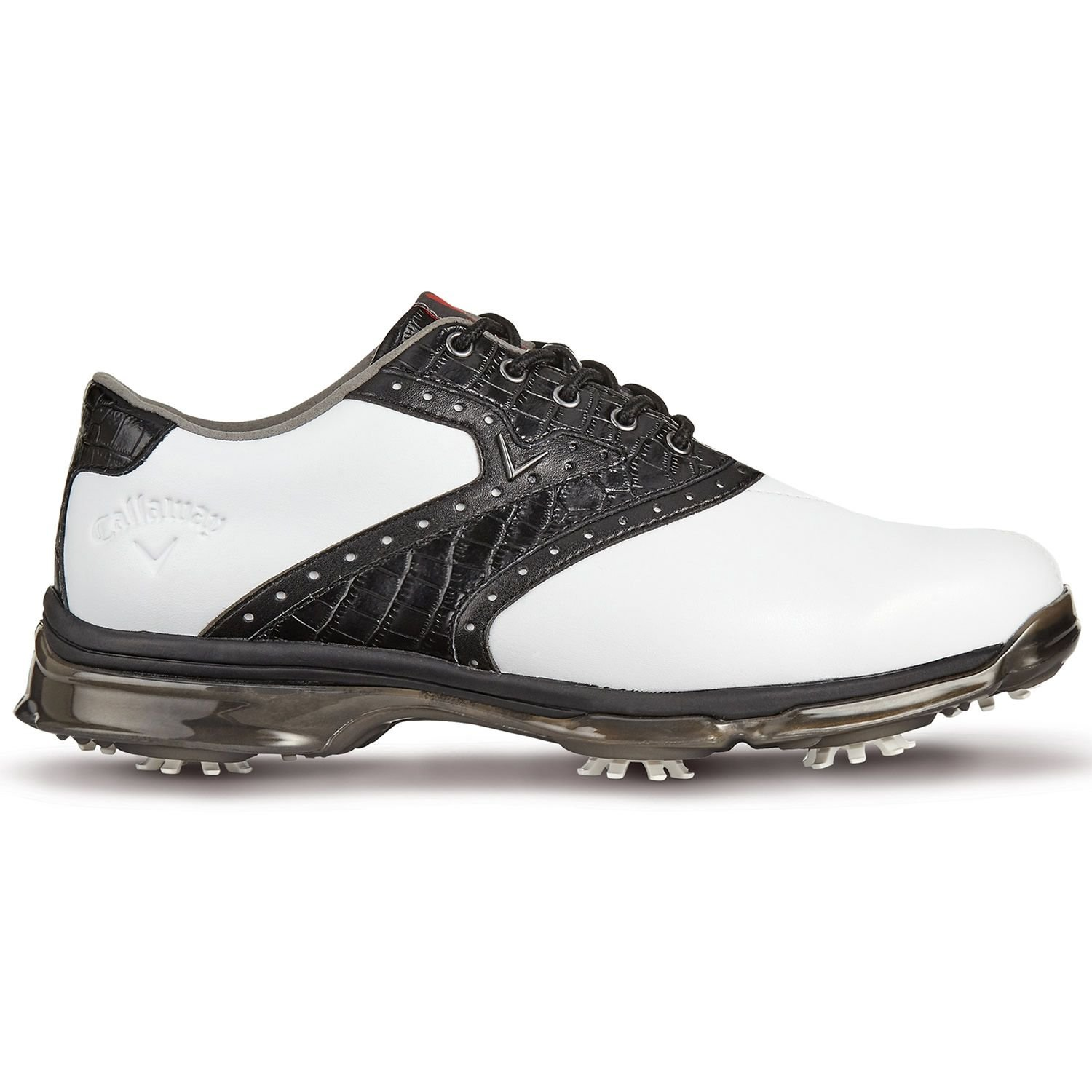85e0606cf535 Callaway 2018 X Nitro PT Waterproof Mens Spikes Golf Shoes-Leather ...