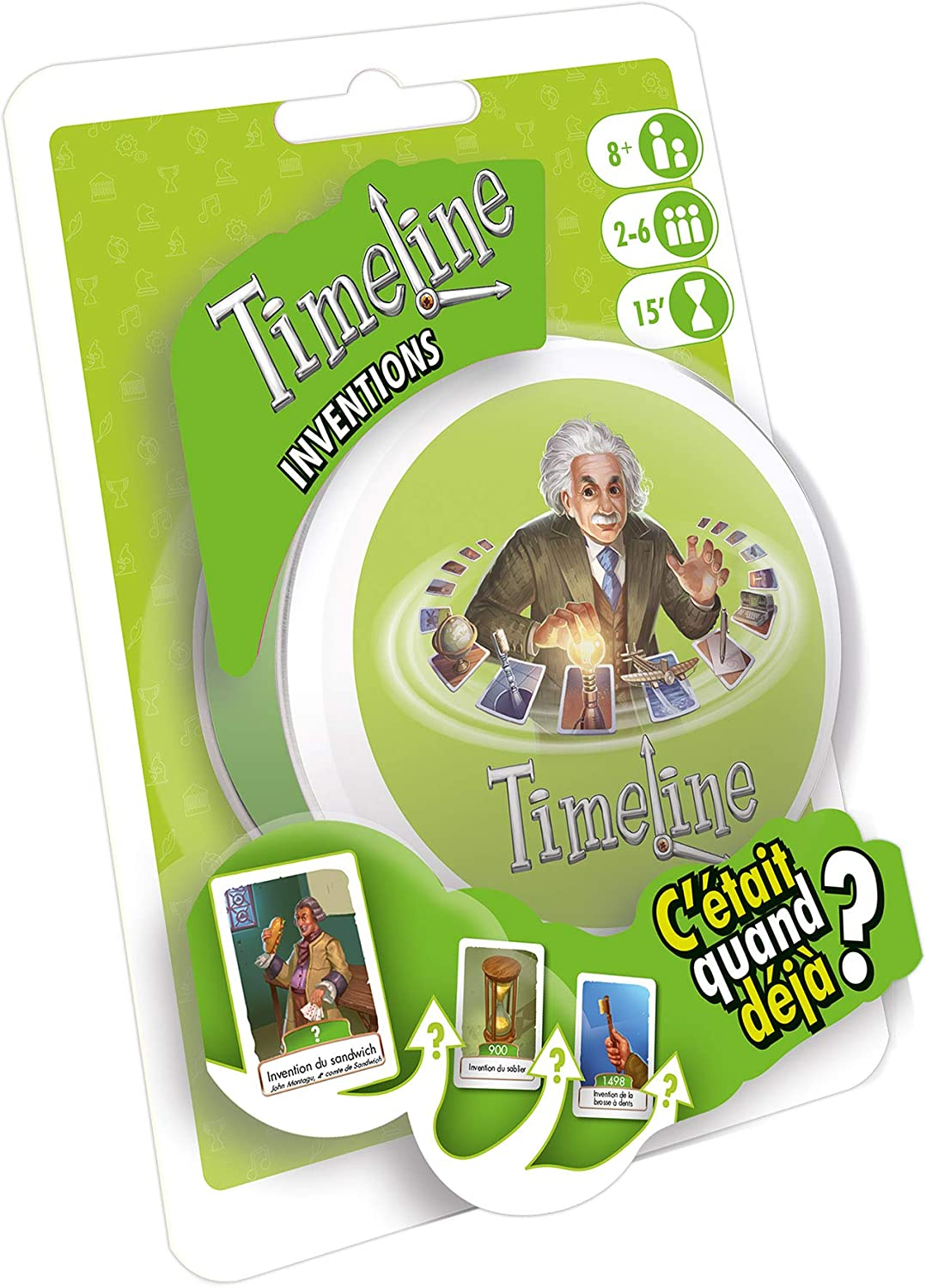 Asmodee - Timeline Classic, TIME03FR, Jeu D'ambiance, Taille Unique Jeu D'ambiance