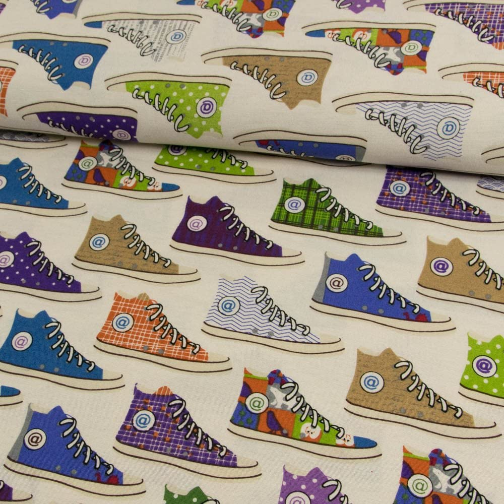 Stoffe Werning Tela decorativa (Zapatillas natural Multicolor ...