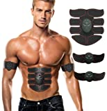 Aliex Abdominal Muscle Toner, ABS Trainer Body Fit Toning Belt, Portable Unisex Fitness Training Gear, Wireless Muscle Exercise For Abdomen/Arm/Leg Training Men & Women Workout Equipment