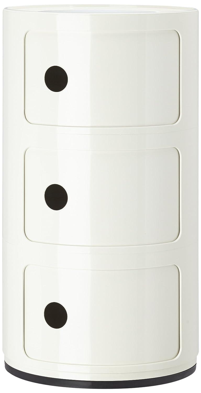Kartell 496703 Componibili Meuble de rangement Blanc crème