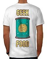 Manger Cerveau Nerd Intelligent Geek Intelligent Gars Men S-5XL T-shirt le dos   Wellcoda