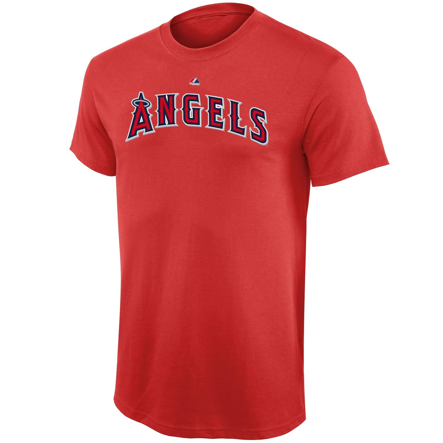 Small 8, Mike Trout MLB Youth 8-20 Performance Team Color Player Name and Number Jersey T-Shirt