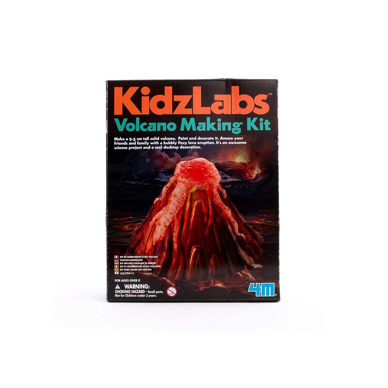 4M KidzLabs Volcano Making Kit - DIY Geology Chemistry Lab STEM Toys Gift for Kids & Teens, Boys & Girls