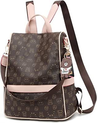 ECOTISH Bolso Mochila Cuero Mujer Antirrobo Mochilas Mujer Casual Bolso de Mano Bolsa de viaje Messenger Bag Backpack