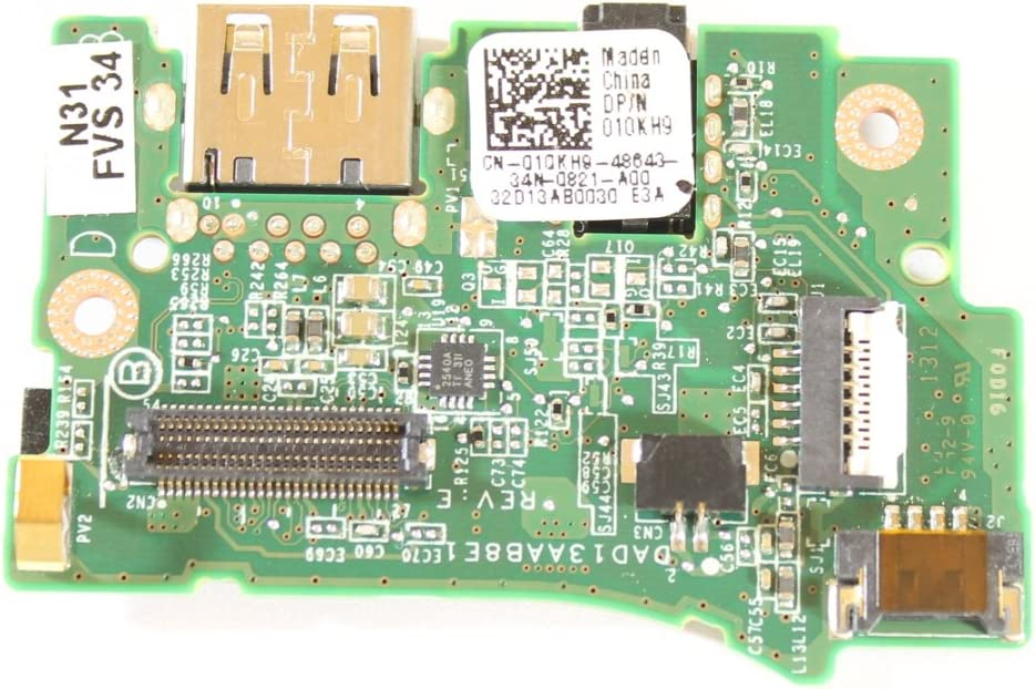 Dell XPS L322X 10KH9 USB 3.0 Audio Power Button Board DAD13AAB8E1