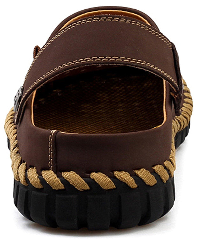 Dayiss® Herren Jungen Leder Sandalen Pantoletten Schuhe luftdurchlässig Dunkelbraun Sandaletten Dunkelbraun luftdurchlässig dc2dfd