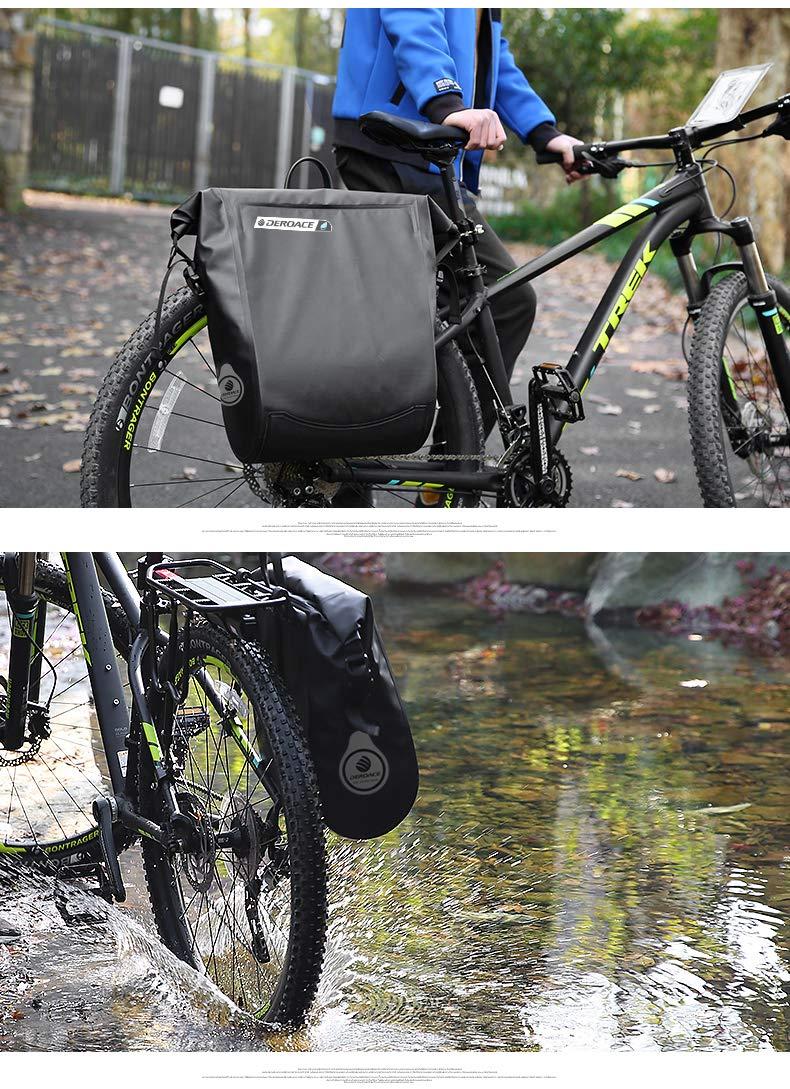 ANUSA 自転車用防水バッグ 20L ハンドルバーバッグ 自転車バックシートポケット ショルダーパック ライディング サイクリング 自転車アクセサリー   B07GCMY4FV