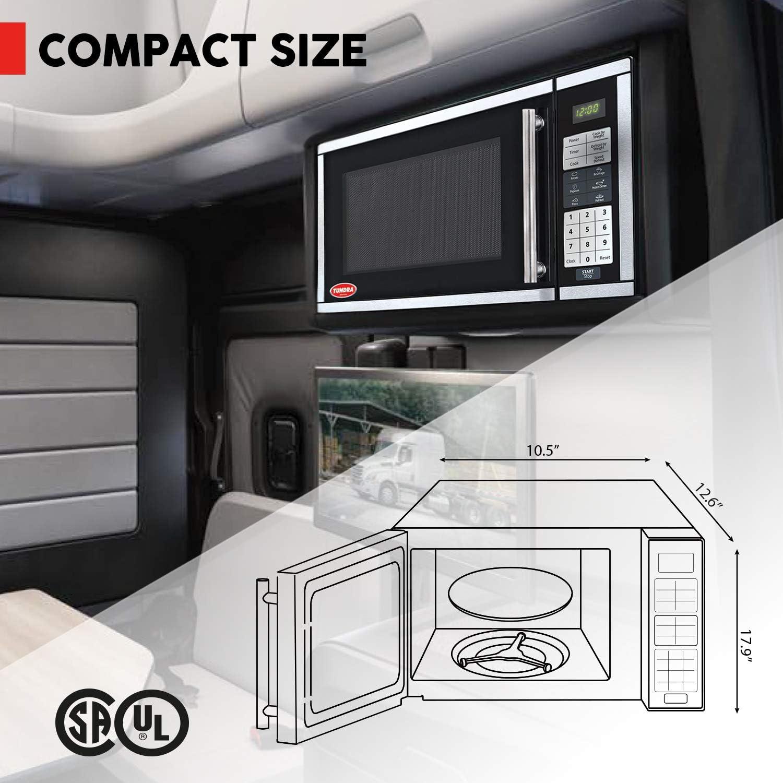 0.7 ft/³ MW700 700 W 120 Volt Truck Microwave Oven TUNDRA MW Series 20 L