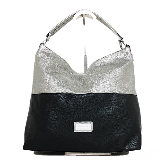 046a2b1c95 Borsa MARTISSIMA donna sintetica Silver-Nero IP59950_1785: Amazon.it:  Abbigliamento
