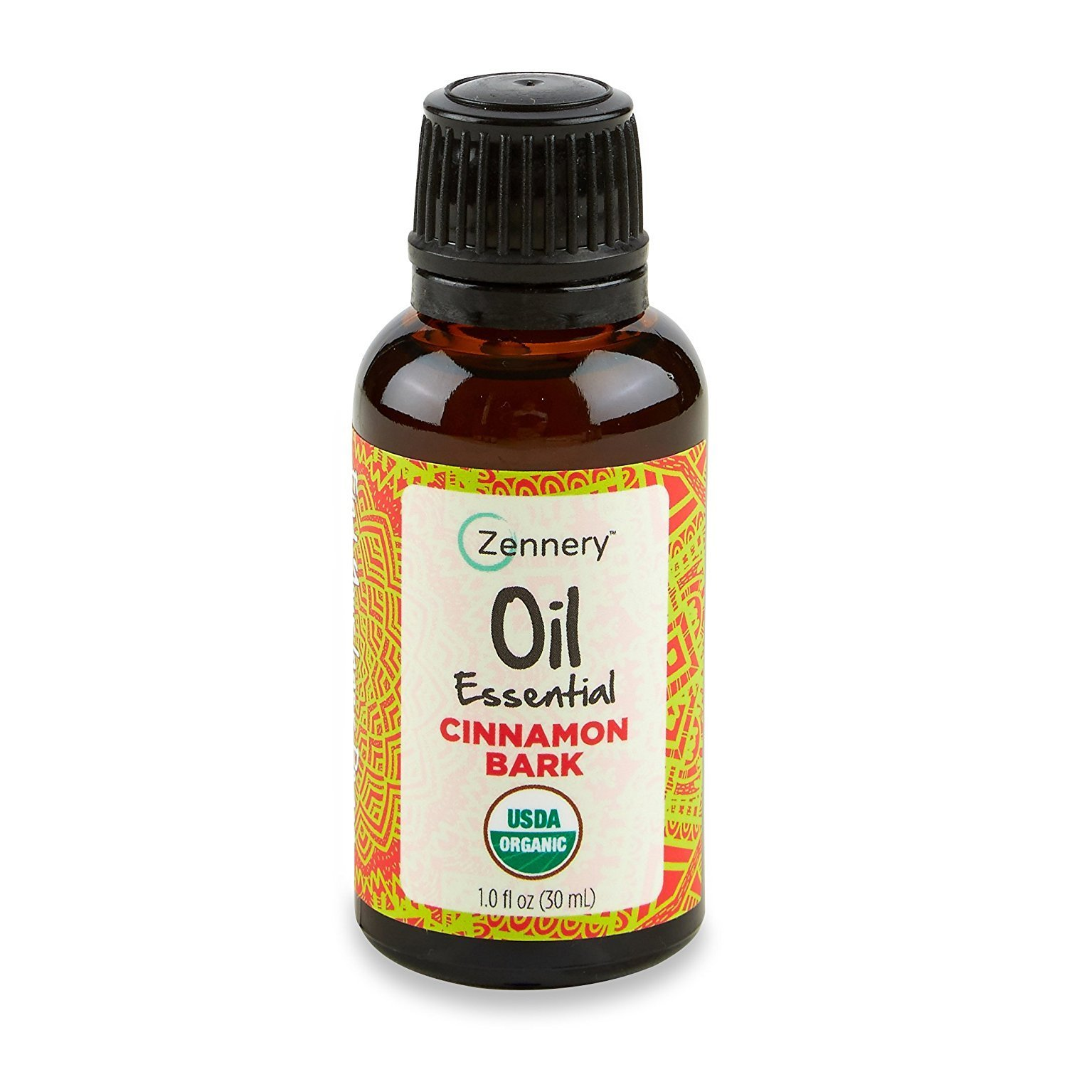 Zennery 100% Pure Cinnamon Bark Essential Oil (USDA CERTIFIED ORGANIC) 1oz (30ml) Cinnamomum verum - Great for diffusers, Topicals or with a Carrier Oil Therapeutic Grade *NOT TESTED ON ANIMALS*
